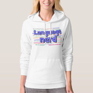 anguage nerd and background blue pullover