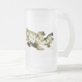 Anguila del copo de nieve taza de cristal