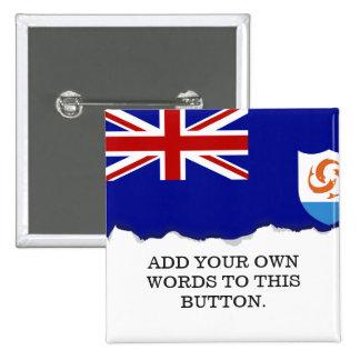 Anguila Flag Pinback Button