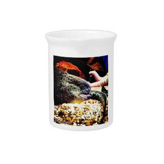 Anguila manchada jarra de beber