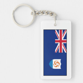 Anguilla - Anguillian Flag Rectangle Acrylic Key Chains