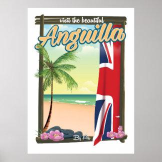 Anguilla British Territory travel poster