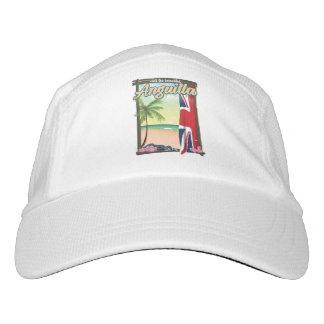 Anguilla British Territory travel poster Headsweats Hat