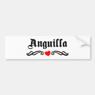 Anguilla Car Bumper Sticker