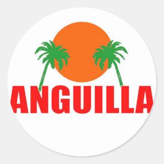Anguilla Classic Round Sticker
