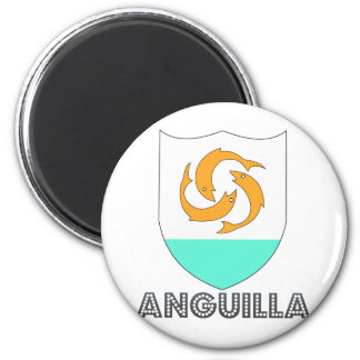 Anguilla Coat of Arms 2 Inch Round Magnet