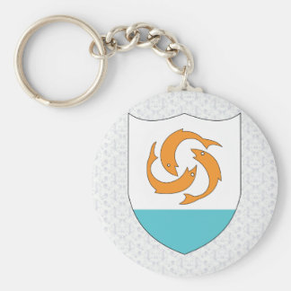 Anguilla Coat of Arms detail Key Chain