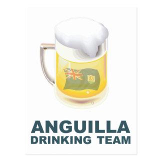 Anguilla Drinking Team Postcard