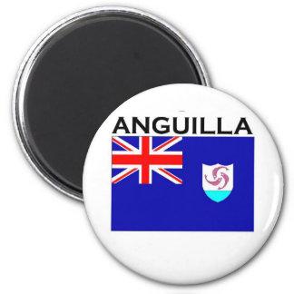 Anguilla Flag 2 Inch Round Magnet