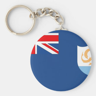 Anguilla Flag Key Chain