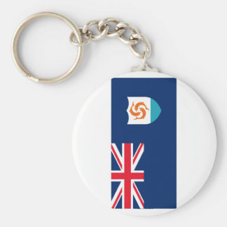 Anguilla Flag Basic Round Button Keychain