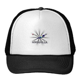 Anguilla Flag Map 2.0 Trucker Hat