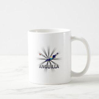 Anguilla Flag Map 2.0 Mugs