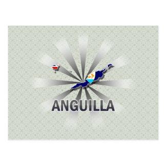 Anguilla Flag Map 2.0 Postcard