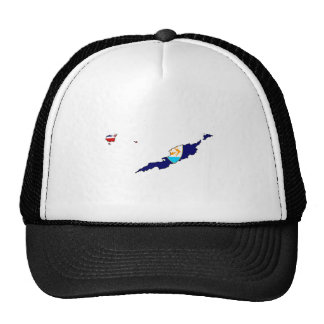 Anguilla Flag Map full size Trucker Hats
