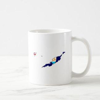Anguilla Flag Map full size Coffee Mugs
