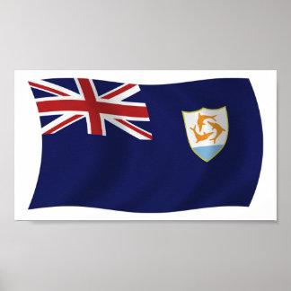Anguilla Flag Poster Print