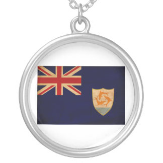 Anguilla Flag Silver Plated Necklace