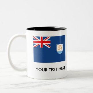 Anguilla Flag Two-Tone Coffee Mug
