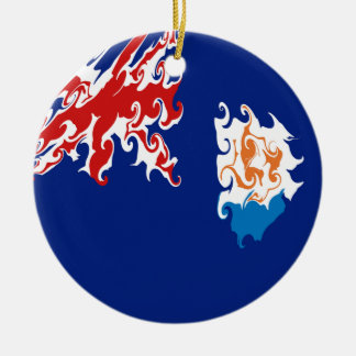 Anguilla Gnarly Flag Ceramic Ornament