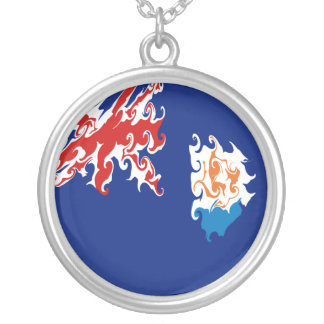 Anguilla Gnarly Flag Necklaces