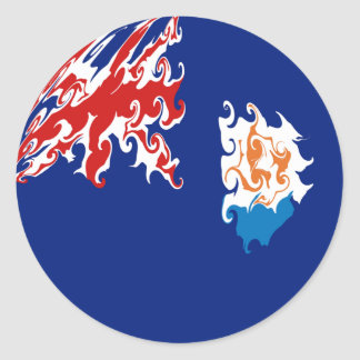 Anguilla Gnarly Flag Round Stickers