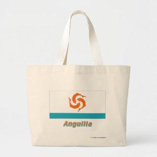 Anguilla Local Flag with Name Jumbo Tote Bag