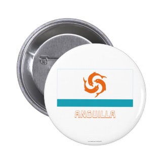 Anguilla Local Flag with Name 2 Inch Round Button