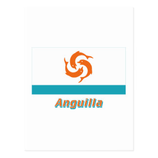 Anguilla Local Flag with Name Postcard