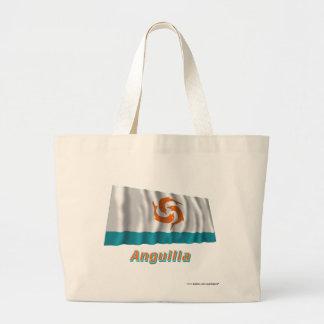 Anguilla Local Waving Flag with Name Jumbo Tote Bag