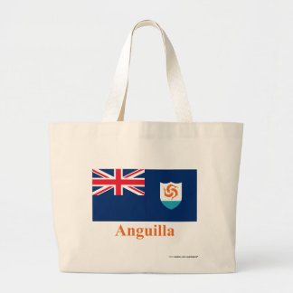 Anguilla Official Flag with Name Jumbo Tote Bag