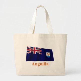 Anguilla Official Waving Flag with Name Jumbo Tote Bag