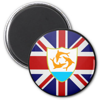 Anguilla quality Flag Circle 2 Inch Round Magnet