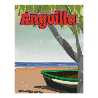Anguilla vintage travel poster. poster
