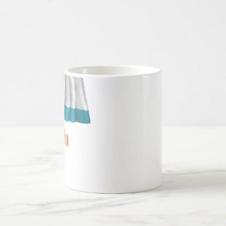 Anguilla Waving Local Flag with Name Coffee Mug