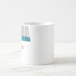 Anguilla Waving Local Flag with Name Classic White Coffee Mug