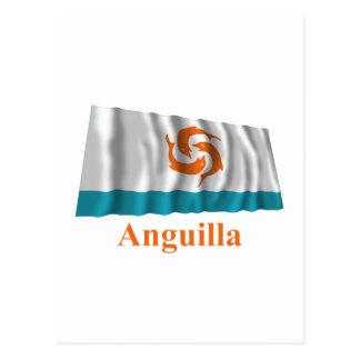 Anguilla Waving Local Flag with Name Postcard