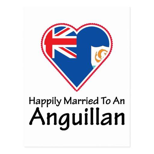 Anguillan feliz casado postales