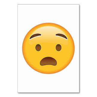 Anguished Face - Emoji Card