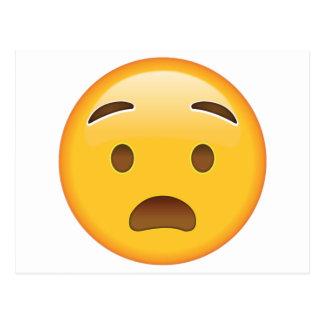 Anguished Face - Emoji Postcard