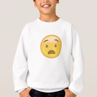 Anguished Face Emoji Sweatshirt