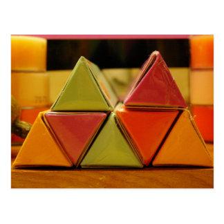 angular color isoceles pleez postcard
