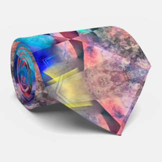 Angular Colorful Abstract Painting Neck Tie