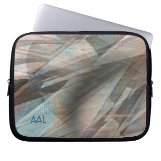 Angular Excitement Digital Abstract Laptop Sleeves