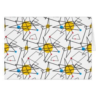 Angular Geometric Retro Pattern Stationery Note Card