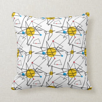 Angular Geometric Retro Pattern Pillow
