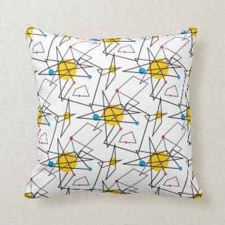 Angular Geometric Retro Pattern Throw Pillows