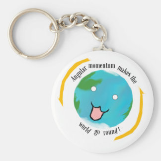 Angular Momentum button Keychain