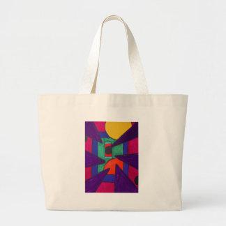 Angular Perception Large Tote Bag