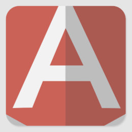 AngularJS Shield Logo Square Sticker